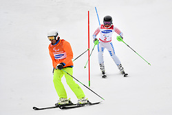 UMSTEAD Danelle B2 USA Guide: UMSTEAD Rob competing in the ParaSkiAlpin, Para Alpine Skiing, Slalom at the PyeongChang2018 Winter Paralympic Games, South Korea.