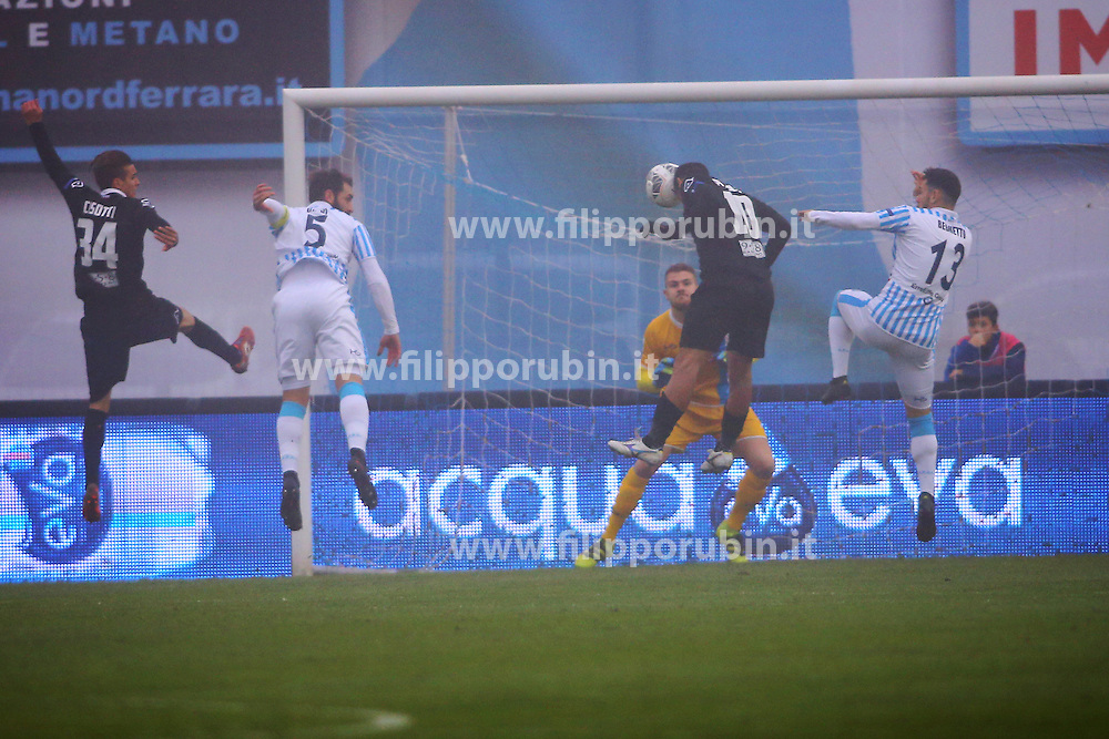 "Foto Filippo Rubin<br /> 10/12/2016 Ferrara (Italia)<br /> Sport Calcio<br /> Spal vs Spezia - Campionato di calcio Serie B ConTe.it 2016/2017 - Stadio ""Paolo Mazza""<br /> Nella foto: goal piccolo<br /> <br /> Photo Filippo Rubin<br /> December 10, 2016 Ferrara (Italy)<br /> Sport Soccer<br /> Spal vs Spezia - Italian Football Championship League B ConTe.it 2016/2017 - ""Paolo Mazza"" Stadium <br /> In the pic: goal piccolo"