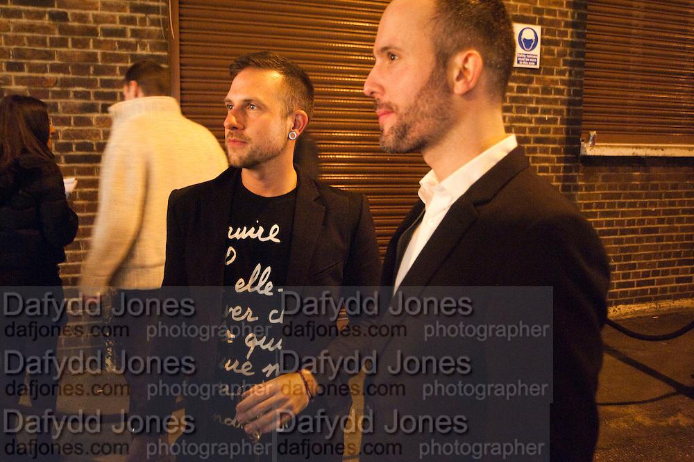 RICHARD STORER; MARK STOBBS, Wallpaper* Design Awards. Wilkinson Gallery, 50-58 Vyner Street, London E2, 14 January 2010 *** Local Caption *** -DO NOT ARCHIVE-© Copyright Photograph by Dafydd Jones. 248 Clapham Rd. London SW9 0PZ. Tel 0207 820 0771. www.dafjones.com.<br /> RICHARD STORER; MARK STOBBS, Wallpaper* Design Awards. Wilkinson Gallery, 50-58 Vyner Street, London E2, 14 January 2010