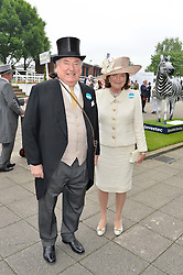 SIR ANTHONY & LADY OPPENHEIMER at the Investec Derby at Epsom Racecourse, Epsom, Surrey on 4th June 2016.