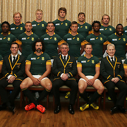EASTBOURNE, ENGLAND - SEPTEMBER 18: Springboks Official team photograph during the South African Springboks Official team photograph at Grand Eastbourne Hotel on September 18, 2015 in Eastbourne, England. (Photo by Steve Haag/Gallo Images)