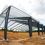 Indoor arena construction at the Florida Horse Park in Ocala, Florida.
