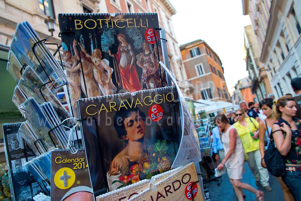 Alberto Carrera, Street Souvenirs Shops, Rome, Lazio, Italy, Europe