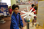 Eduardo Corazon's science project won first place at the Revere MS Science Fair.