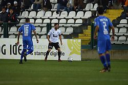 November 3, 2018 - Vercelli, Italy - Italian defender Carlo Mammarella from Pro Vercelli team playing during Saturday evening's match against Novara Calcio valid for the 10th day of the Italian Lega Pro championship  (Credit Image: © Andrea Diodato/NurPhoto via ZUMA Press)