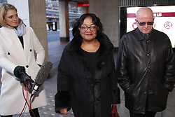 © Licensed to London News Pictures. 06/01/2020. London, UK. Shadow Home Secretary Diane Abbott arrives at Labour party headquarters in central London. A National Executive Committee meeting is being held today to decide on processes and timing of the leadership contest to replace Jeremy Corbyn. Photo credit: Peter Macdiarmid/LNP