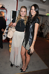 Left to right, NOELLE RENO and KIM JOHNSON at the Inspiring Morocco launch held at Harrods, Knightsbridge, London on 3rd November 2011.