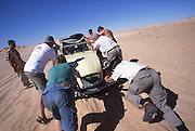 Stuck again in the Sahara Desert in Mauritania.