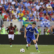 Oscar, Chelsea, in action during the Chelsea V AC Milan Guinness International Champions Cup tie at MetLife Stadium, East Rutherford, New Jersey, USA.  4th August 2013. Photo Tim Clayton