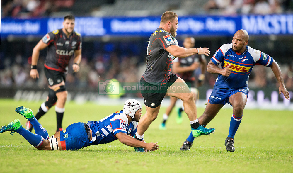 DURBAN, SOUTH AFRICA - APRIL 21: Akker Van Der Merwe of the Cell C Sharks during the Super Rugby match between Cell C Sharks and DHL Stormers at Jonsson Kings Park on April 21, 2018 in Durban, South Africa. Picture Leon Lestrade/African News Agency/ANA