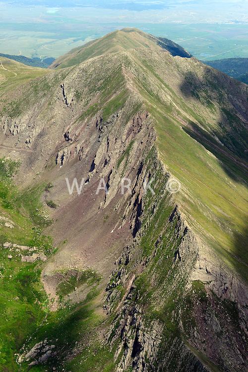 Hermit Peak, Sangre de Cristo Range.  West of Westcliffe, Colorado.  July 2013.  80372