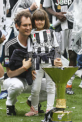 May 19, 2018 - Turin, Italy - John Elkan celebrates next to of the Serie A soccer title trophy during the Serie A football match n.38 JUVENTUS - VERONA on 19/05/2018 at the Allianz Stadium in Turin, Italy. (Credit Image: © Matteo Bottanelli/NurPhoto via ZUMA Press)