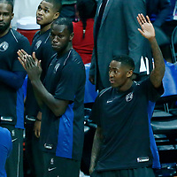 06 December 2017: Minnesota Timberwolves guard Jamal Crawford (11) thanks the fans during the Minnesota Timberwolves 113-107 victory over the LA Clippers, at the Staples Center, Los Angeles, California, USA.