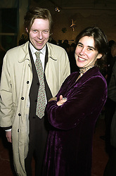 The EARL OF LUCAN and MISS SOPHIE LILLINGSTON, at an exhibition in London on 25th October 2000.OIG 79