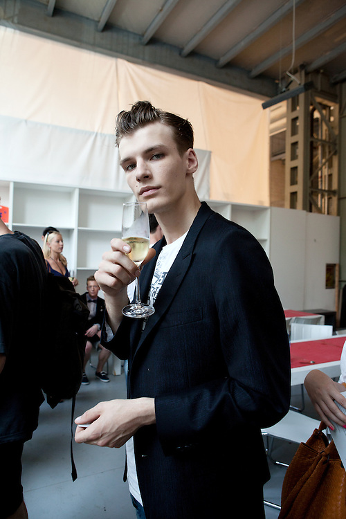 Milan, Italy, June the 25th, 2012. Backstage at Z Zegna during the Milan Men's Fashion Week. Reportage for Cosmopolitan Germany.