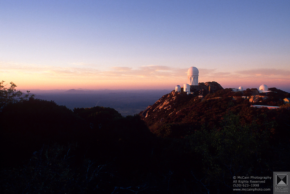 Kitt Peak National Astronomical Observatory at sunset, near Sells, Arizona.©1989 Edward McCain. All rights reserved. McCain Photography, McCain Creative, Inc.