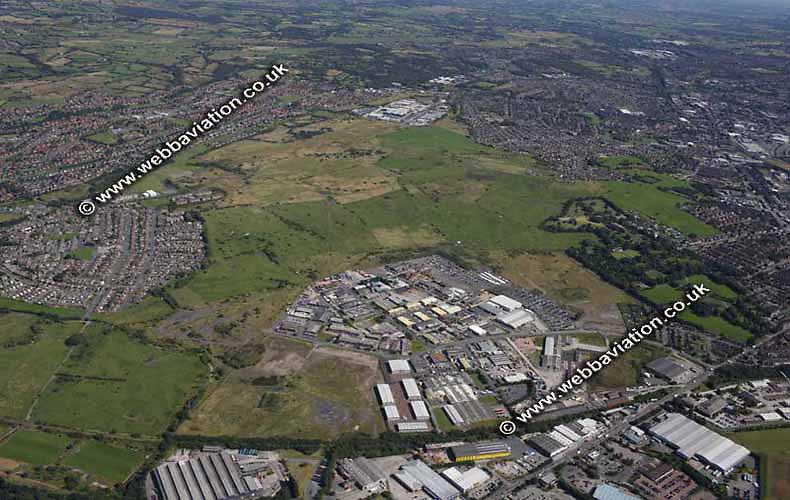 aerial photograph of Fenton Industrial Estate  Stoke-on-Trent Staffordshire UK