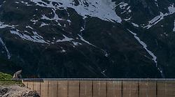 THEMENBILD - die heidnische Kirche am Mooserboden Staudamm mit der umliegenden Landschaft aufgenommen am 15. Juni 2017, Kaprun, Österreich // The pagan church at the Mooserboden dam with the surrounding countryside on 2017/06/15, Kaprun, Austria. EXPA Pictures © 2017, PhotoCredit: EXPA/ JFK