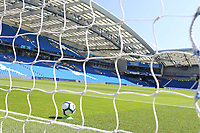 Football - 2018 / 2019 Premier League - Brighton and Hove Albion vs. Fulham<br /> <br /> A view showing the pre match setting up of the goal line hawk eye technology at The Amex Stadium Brighton <br /> <br /> COLORSPORT/SHAUN BOGGUST