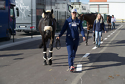 Team Finland<br /> Departure of the horses to the Rio Olympics from Liege Airport - Liege 2016<br /> © Hippo Foto - Dirk Caremans<br /> 30/07/16