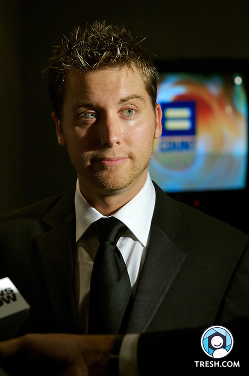 Lance Bass before the Tenth Annual HRC National Dinner