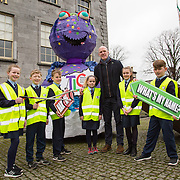 21.02.2017       <br /> Team Limerick Clean-Up is inviting the people of Limerick to get involved in an exciting competition to &lsquo;Name the TLC3 Litter Monster&rsquo;. Paul O&rsquo;Connell was joined by pupils from Bruree National School and representatives from the JP McManus Benevolent Fund at the Hunt Museum to announce details of the competition. Picture: Alan Place