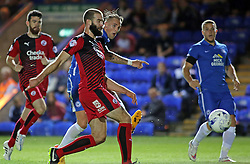 Jack Collison of Peterborough United scores but his effort is ruled out for offside - Mandatory byline: Joe Dent/JMP - 07966386802 - 11/08/2015 - FOOTBALL - ABAX Stadium -Peterborough,England - Peterborough United v Crawley Town - Capital One Cup
