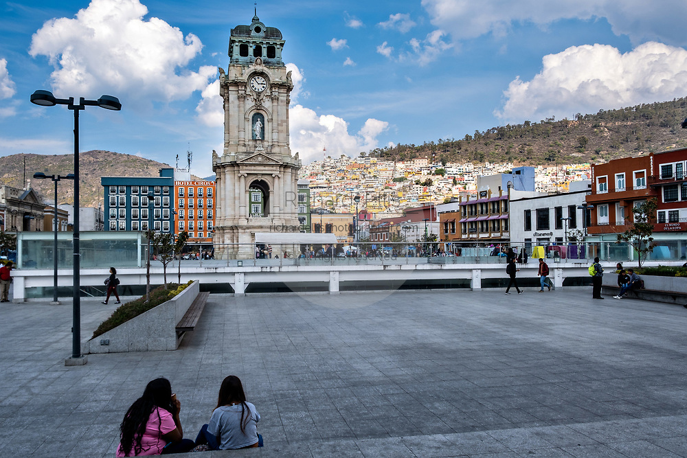 The Clocktower Monument, called Reloj Monumental de Pachuca in Spanish at the Plaza Independencia in Pachuca, Hidalgo State, Mexico. The towner donated by Cornish miner Francis Rule, was built in 1907, is 40 meters tall and surrounded by four statues representing Reform, Liberty, Independence and the Constitution.