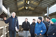 Tom Murphy, Teagasc on Willie Donoghue's farm in Athenry Co. Galway for  a calf care event organised by Aurivo's Farm Profitability Programme, Teagasc and Animal Health Ireland. Photo:Andrew Downes, xposure