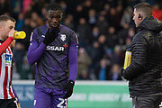 Red Card - Corey Blackett-Taylor (23) is sent off during the EFL Sky Bet League 1 match between Lincoln City and Tranmere Rovers at Sincil Bank, Lincoln, United Kingdom on 14 December 2019.