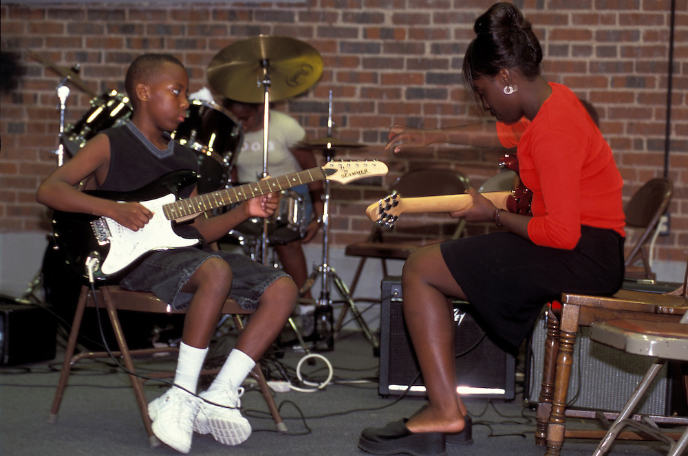 Young Musicians, Youth Blues Session at the Delta Blues Museum, Clarksdale, Mississippi, USA