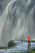 Dettifoss waterfall is the most powerfull waterfall in Iceland. It is 44 m high and 100  m wide. It makes you feel small.