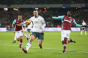 Zlatan Ibrahimovic Forward of Manchester United during the Premier League match between West Ham United and Manchester United at the Stadium Queen Elizabeth Olympic Park, London, United Kingdom on 2 January 2017. Photo by Phil Duncan.