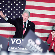 Bill Clinton  waved the crow along with the candidate to US Senate for New Hampshire, Jeanne Shahahen,  at Central High Shool Manchester, NH, 11/02/2008