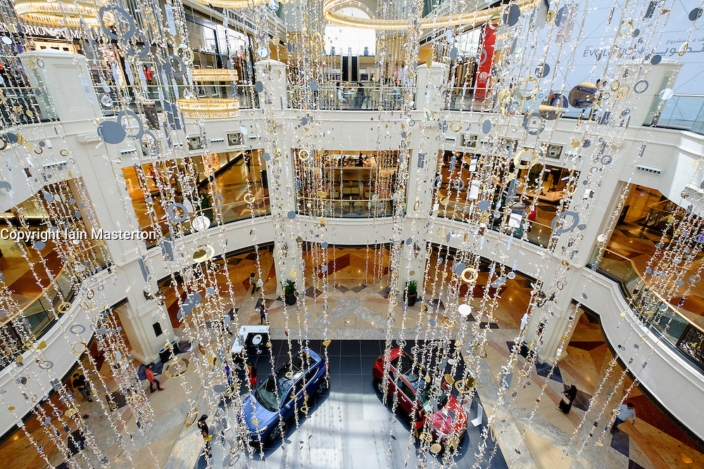 Interior of  atrium at Mall of the Emirates United Arab Emirates