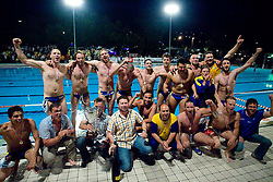 Players of Koper celebrate at last final game of Slovenian Waterpolo National Championship between ASD Rokava Koper and VK Triglav Kranj, on June 6, 2009, in Zusterna, Koper, Slovenia. Rokava Koper won 13:6 and became Slovenian National Champion for the season 2008/2009. (Photo by Vid Ponikvar / Sportida)