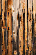 Grain Patterns on old weathered wooden boards on the side of an old barn.