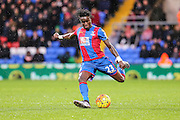 Crystal Palace's Pape N'Diaye Souaré on the ball during the Barclays Premier League match between Crystal Palace and Chelsea at Selhurst Park, London, England on 3 January 2016. Photo by Shane Healey.