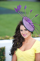 Miss Galway Laura Fox who has been attending the Galway Races all her life and even worked on the Course has seen it All and now gets to see  it from the Other side. Laura will be attending every day this week as the Galway Summer Racing Festival continues till Sunday. Photo:Andrew Downes