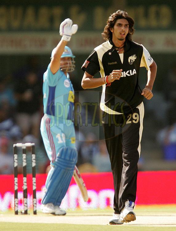 EAST LONDON, SOUTH AFRICA - 1 May 2009. Sachin Tendulkar and Ishant Sharma during the  IPL Season 2 match between the Mumbai Indians and the Kolkata Knight Riders held at Buffalo Park in East London. South Africa..