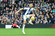 West Bromwich Albion defender Kieran Gibbs (3) controls during the EFL Sky Bet Championship match between West Bromwich Albion and Norwich City at The Hawthorns, West Bromwich, England on 12 January 2019.