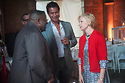 ISAAC JULIEN; GLENN SCOT WRIGHT; CINDY SHERMAN, The Bronx Museum of the Arts, Tanya Bonakdar Gallery and the Victoria Miro Gallery host a reception and dinner in honor of Sarah Sze: Triple Point. Representing the United States of America at the 55th Biennale di Venezia with the Co  Commissioners of the  U. S. Pavilion Holly Block, Executive Director of the Bronx Museum of the arts  and Carey Lovelace. <br /> <br /> Rialto Fish market. Venice. . 29 May 2013