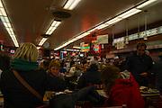 interior of a diner Manhattan, New York City, New York, USA