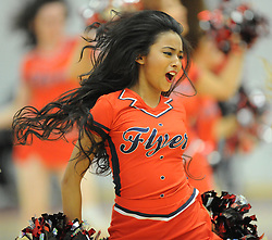 A cheerleader entertain during a break in play - Photo mandatory by-line: Paul Knight/JMP - Mobile: 07966 386802 - 15/11/2014 - SPORT - Football - Bristol - SGS Wise Arena - Bristol Flyers v Cheshire Phoenix - Bristol Basketball League