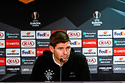 Rangers Manager Steven Gerrard talks to the press during the Rangers Press Conference at Ibrox, Glasgow, Scotland on 3 October 2018. Picture by Colin Poultney.