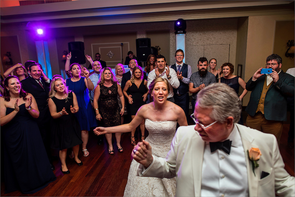 A wedding at Brooklake Country Club in Florham Park, New Jersey.