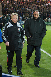 PRESTON, ENGLAND - Saturday, January 3, 2009: Liverpool's manager Rafael Benitez and assistant manager Sammy Lee during the FA Cup 3rd Round match against Preston North End at Deepdale. (Photo by David Rawcliffe/Propaganda)