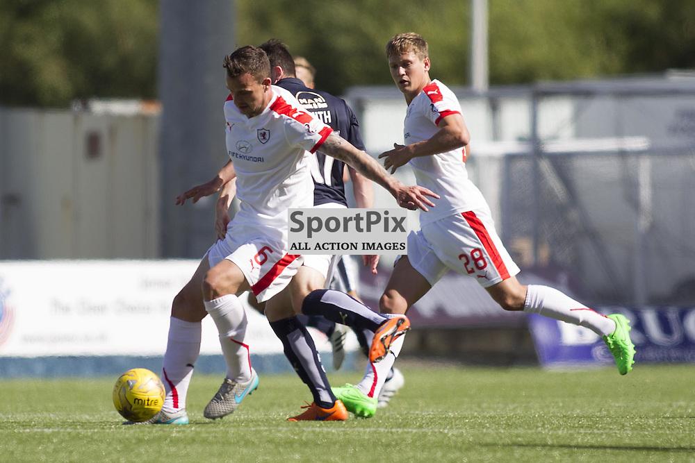 FALKIRK, SCOTLAND - AUGUST 15: Kyle Benedictus (6) in action. Falkirk vs Raith Rovers, Ladbrokes SPFL Championship match. August 15th 2015. Photo by Jonathan Faulds/SportPix