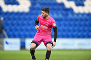 Hartlepool player Padraig Amond in action in the second half during the EFL Sky Bet League 2 match between Colchester United and Hartlepool United at the Weston Homes Community Stadium, Colchester, England on 25 February 2017. Photo by Ian  Muir.