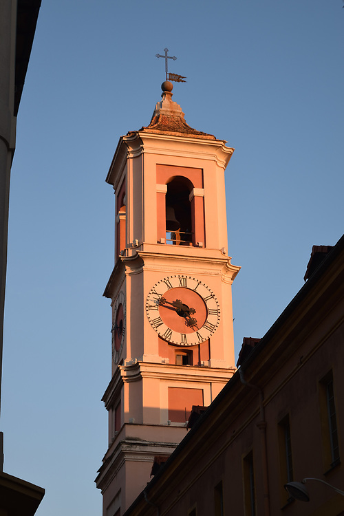 Clock Tower at Sunset in Old Town Nice